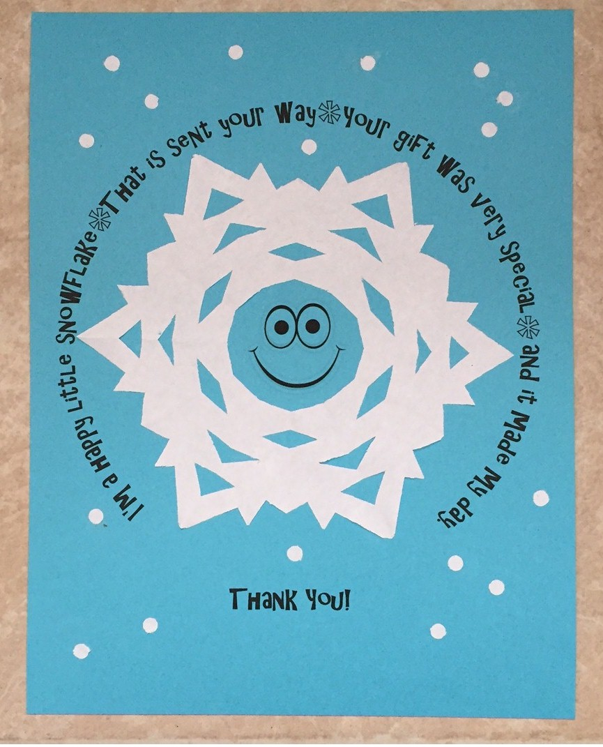 Image of Printable Snowflake Thank You