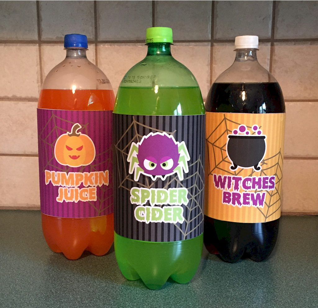 Image of Halloween Soda Bottle Labels