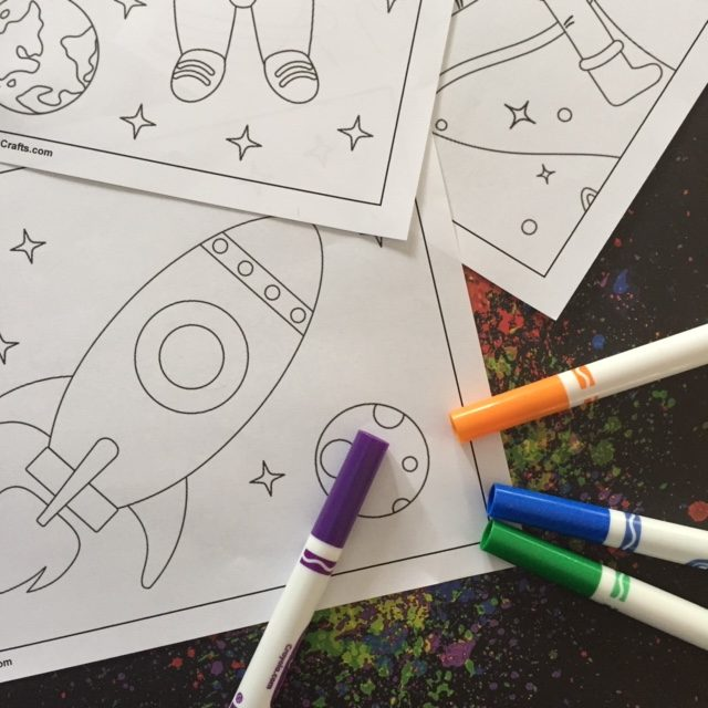 Printable Space Coloring Pages