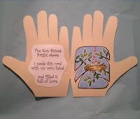 Spring Handprint Card