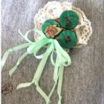 Image of Faceted Shamrock Pin