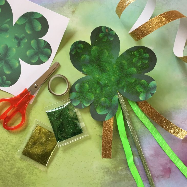 St. Patrick's Day Shamrock Parade Wand