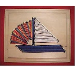 Image of Sailboat String Art