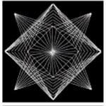 Image of Decorative Geometric String Stars