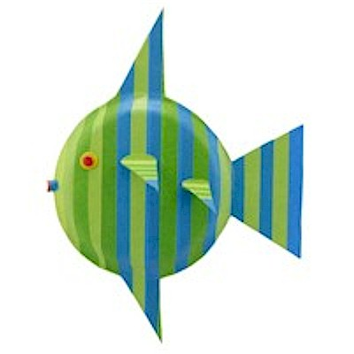 Striped Paper Plate Fish
