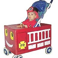 Image of Stroller Fire Truck Costume