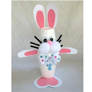 Image of Styrofoam Cup Easter Bunny