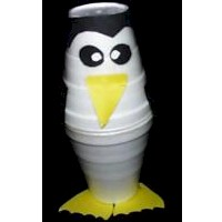 Image of Styrofoam Cup Penguin