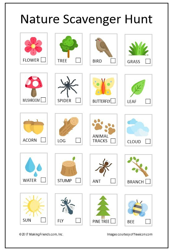 photograph relating to Printable Nature Scavenger Hunt known as Summer time Character Scavenger Hunt