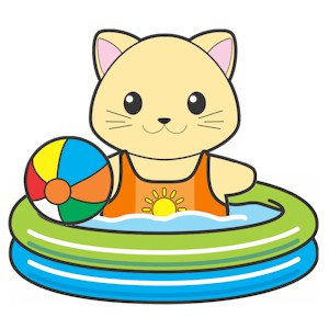 Printable Swimming Pool For Buddies Paper Dolls