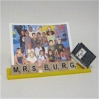 Image of Scrabble Tile Teachers Name Plate