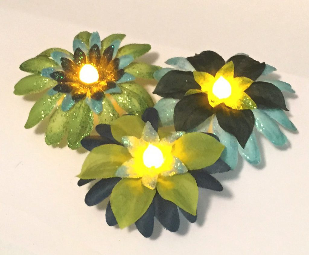 Image of Tea Light Flower Centerpieces