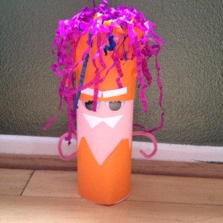Image of Mr. Monster Cardboard Tube Craft