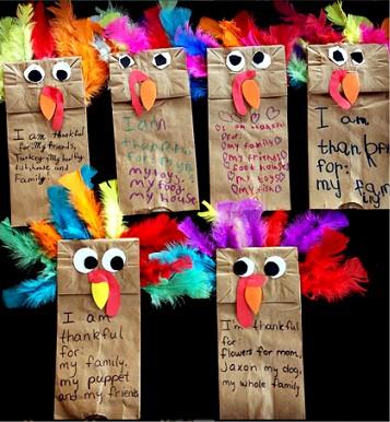 Image of Thanksgiving Turkey Paper Bag Puppet