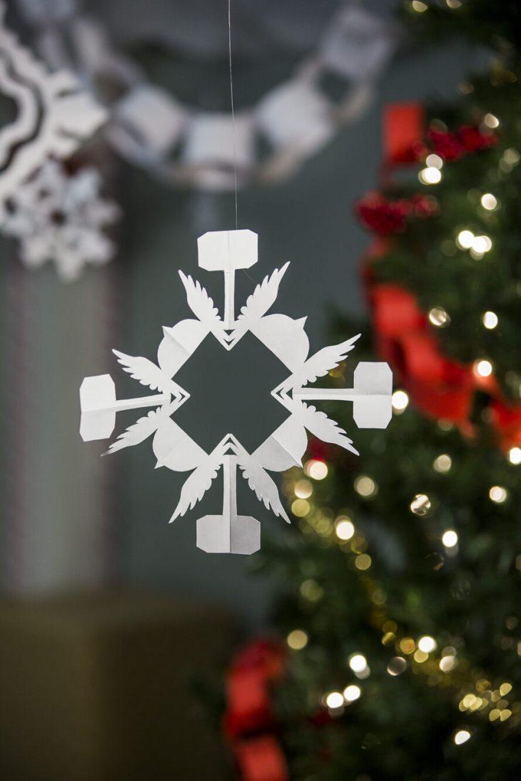 Thor Superhero Snowflake Pattern
