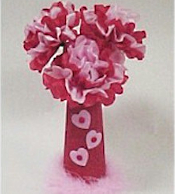 How to make tissue paper flowers for Valentine's Day.