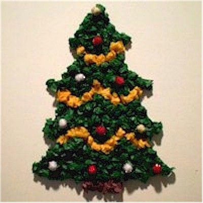 Paper Christmas Tree.Tissue Paper Christmas Tree Decoration