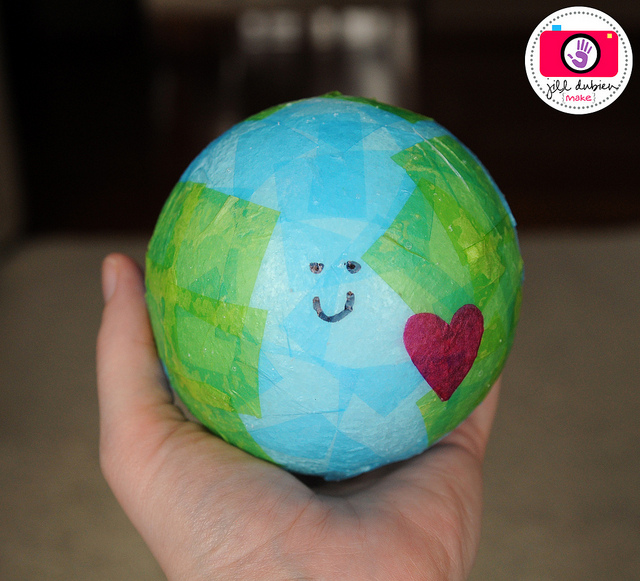 Image of Tissue Paper Earth Day Globe