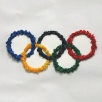Image of Tissue Paper Olympic Rings