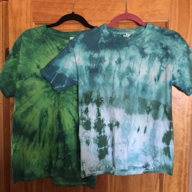 Two Color Tie Dye Tee Shirts