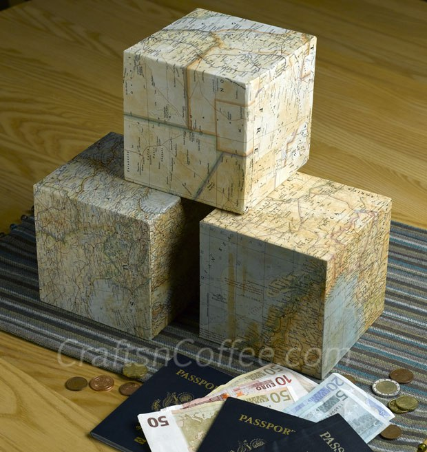 Image of Vacation Map Cubes