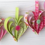 Image of Paper Heart Wreath