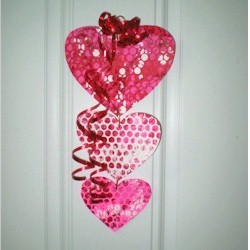 Image of Bubble Wrap Valentine Mobile