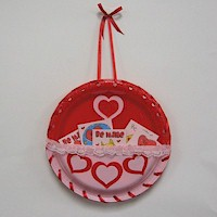 Image of Paper Plate Valentines Day Card Holder & Paper Plate Valentineu0027s Day Card Holder