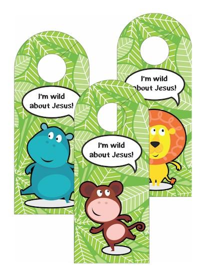 Image of VBS Jungle Door Hangers