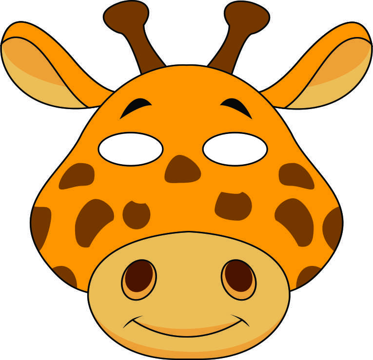 giraffe mask template patterns templates and