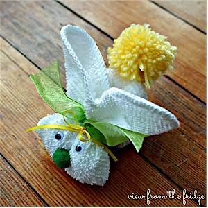 Image of Washcloth Easter Bunny