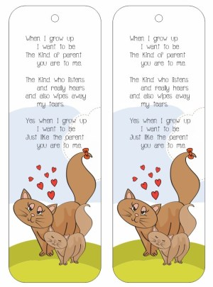 Image of When I Grow Up Bookmark Poem