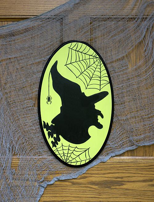Image of Witch Silhouette Plaque