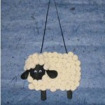 Image of Mini Marshmallow Sheep Ornament