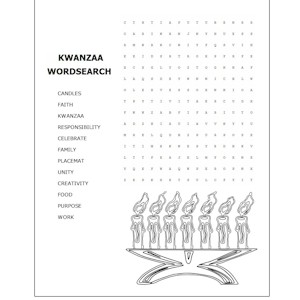 Image of Kwanzaa Word Search