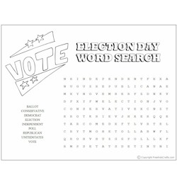 Image of Election Day Word Search