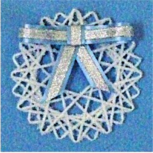 Yarn Snowflake Decoration