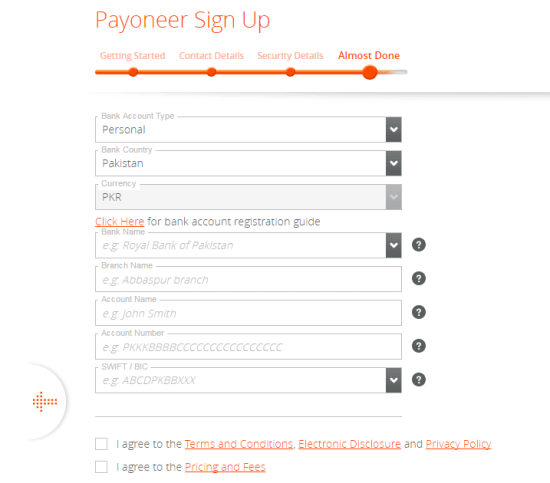 Payoneer Sign UP Last Step