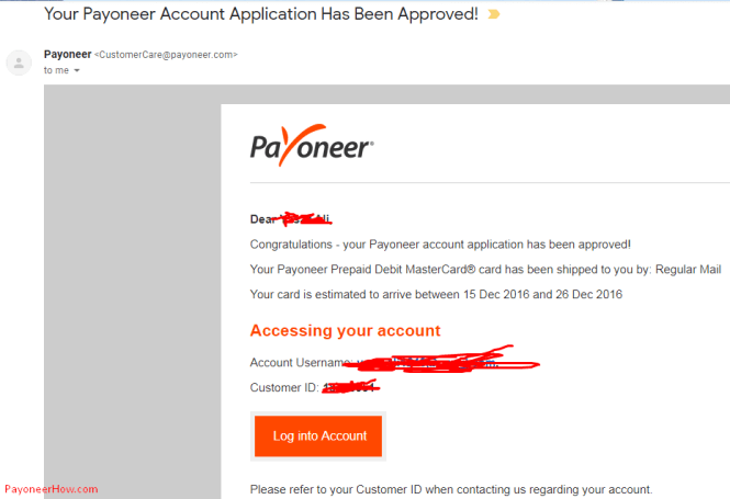 Payoneer Account Approved In Pakistan