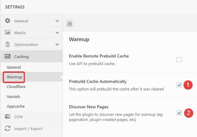 Swift Performance plugin default settings Freelancers tools 14