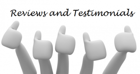 Big thumbs up for reviews and testimonials