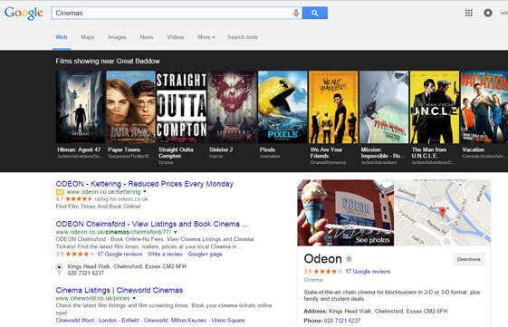 odeon search