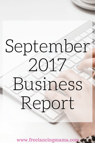 September 2017 Business Report
