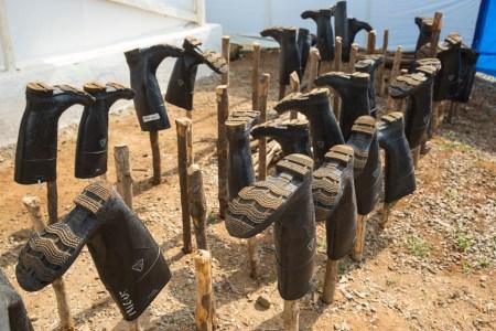Scene from Ebola Treatment Centre in Port Loko, Sierra Leone, foto: UN Photo