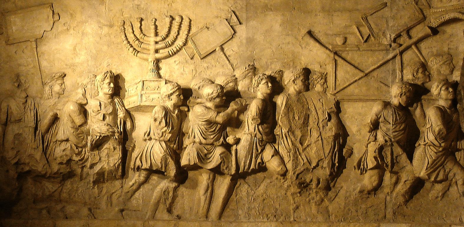 Triumfální oblouk císaře Tita, detail/via Wikimedia Commons