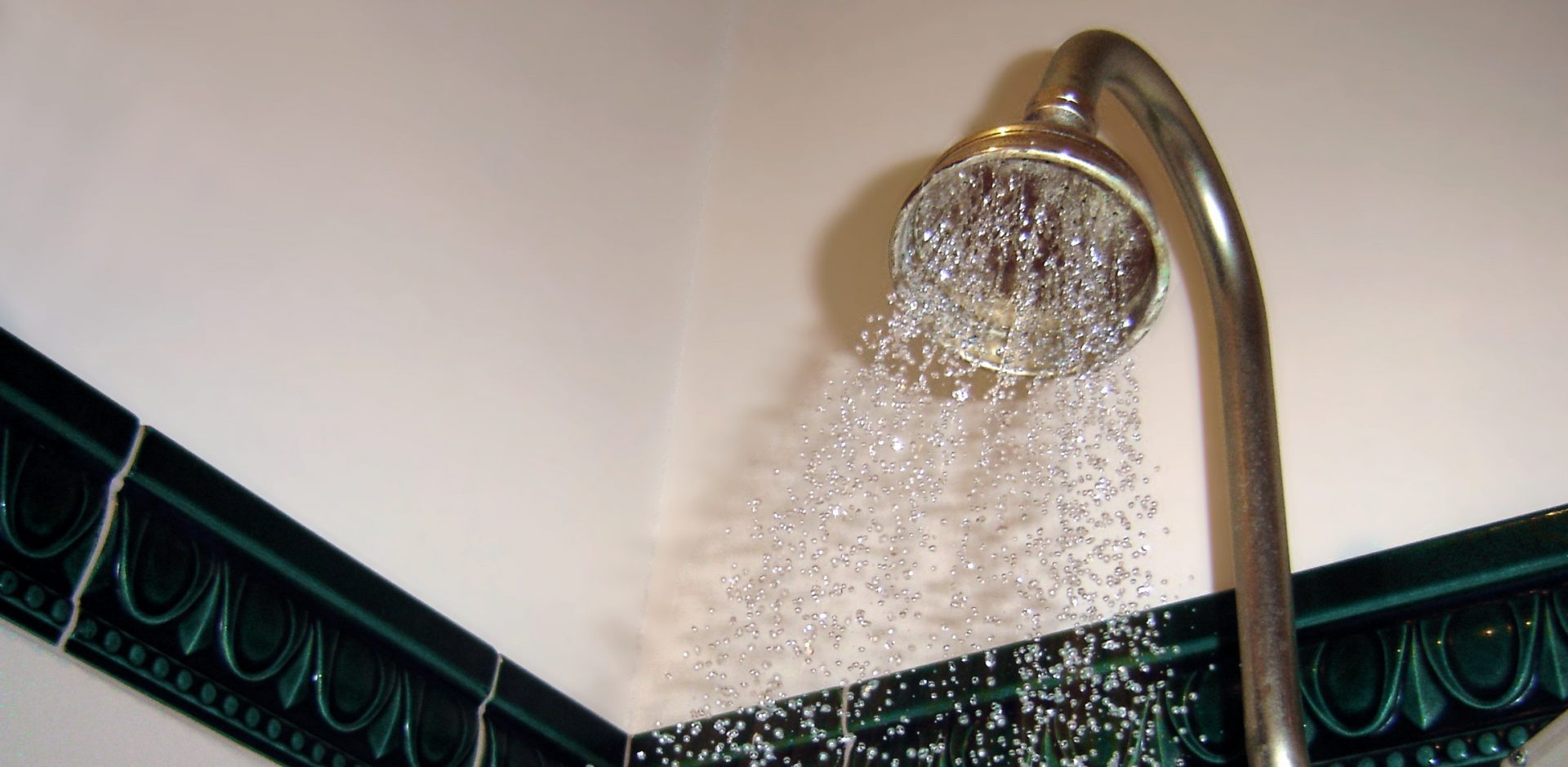 A Turned On Shower