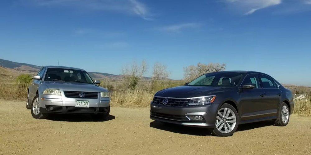 Starý vs nový: Volkswagen Passat 2002 vs Volkswagen Passat 2017 (video)