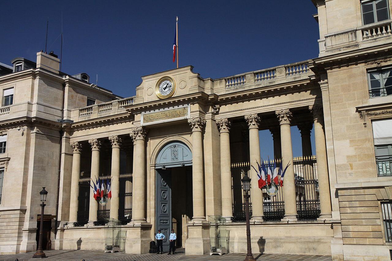 Entrée arrière de l'Assemblée nationale donnant sur la place du Palais Bourbon, Thesupermat