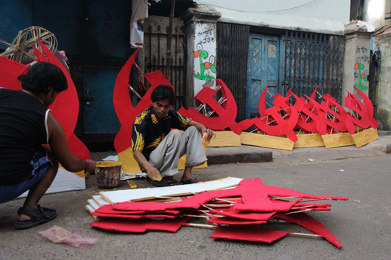 Communist Party Symbols, photo Goutam Roy