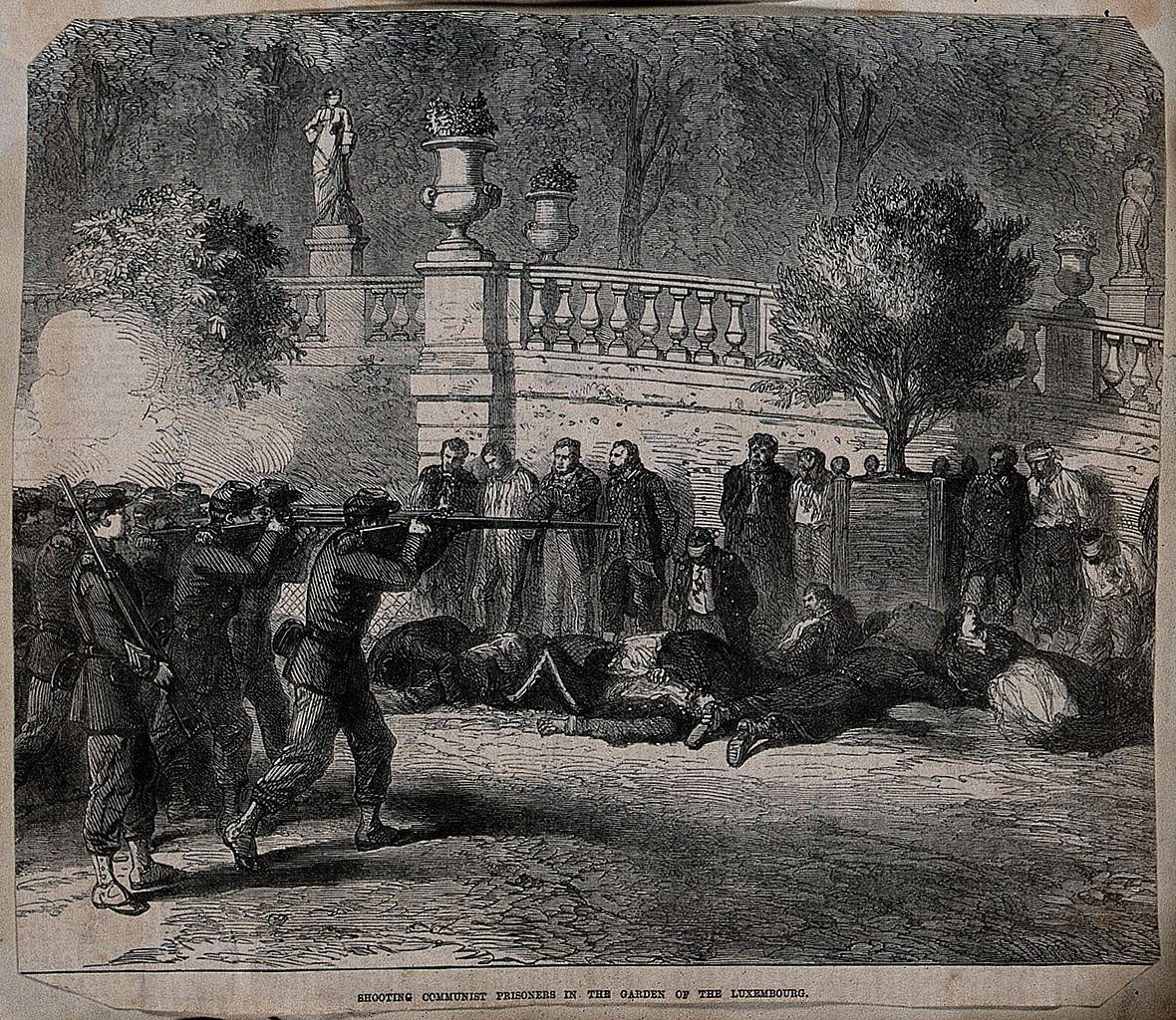 Execution of Communist prisoners in the garden of the Wellcome, photo wellcomeimages.org